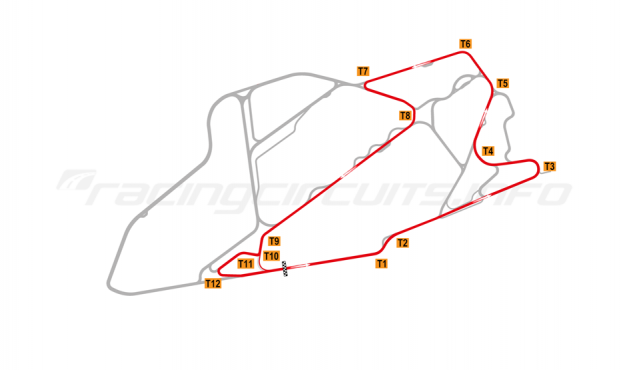 Map of Bedford Autodrome, SEN Circuit 2003