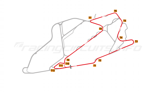 Map of Bedford Autodrome, SEN Circuit 2004-07