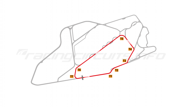 Map of Bedford Autodrome, South Circuit 1999-2002