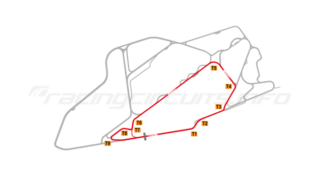 Map of Bedford Autodrome, South Circuit 2003