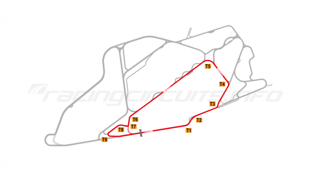 Map of Bedford Autodrome, South Circuit 2004-07