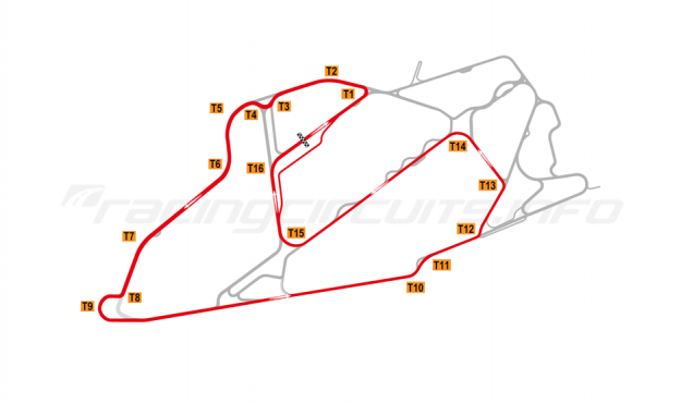 Map of Bedford Autodrome, South West Circuit 2004-07