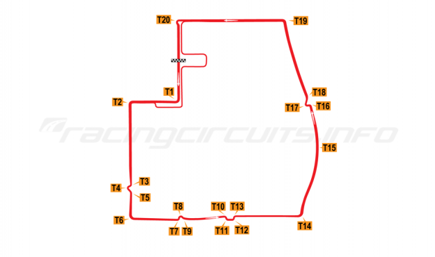 Map of Beijing Olympic Park, Formula E ePrix circuit 2014