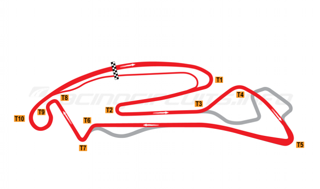Map of Berlin-Tempelhof, Rounds 6 and 7 ePrix Circuit 2020