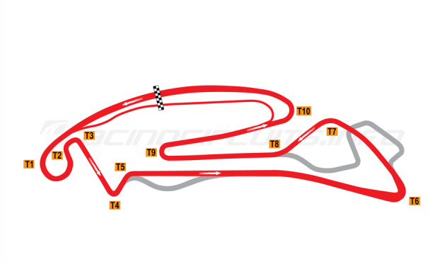 Map of Berlin-Tempelhof, Rounds 8 and 9 ePrix Circuit 2020