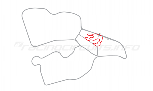 Map of Biķernieki, Kart Circuit (Kartodroms) 1968-86