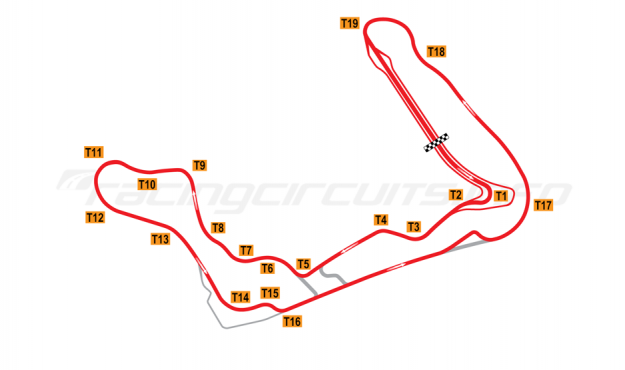 Map of Bilster Berg, Full circuit with chicane 2013 to date
