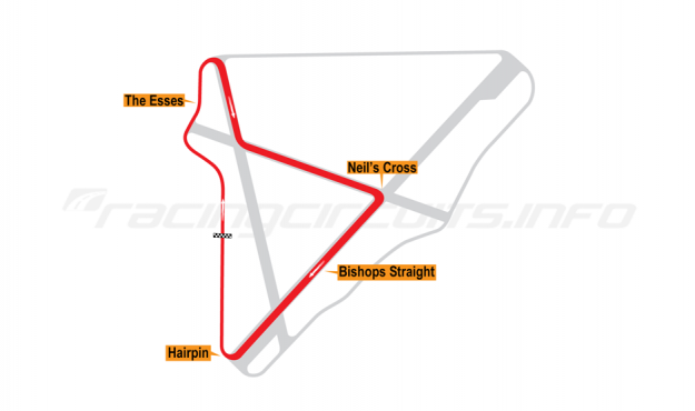 Map of Bishopscourt, National Circuit 1969-73