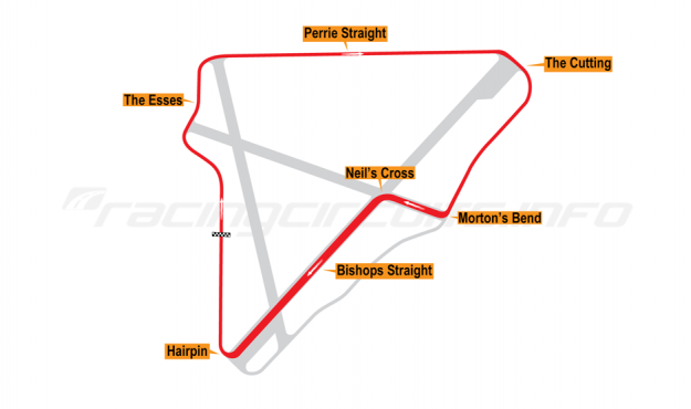 Map of Bishopscourt, National Circuit 1962-68