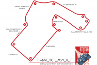 The Boston Grand Prix track layout