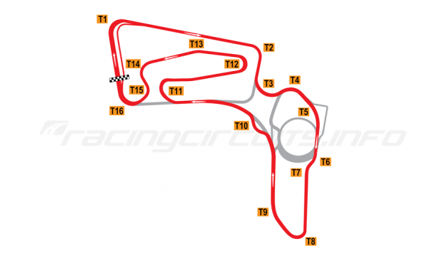 Map of Botniaring, Long circuit with chicane 2013 to date