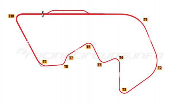 Map of Brainerd, Road Course 1989-2007