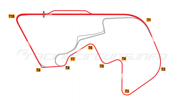 Map of Brainerd, Donnybrooke Superbike Road Course 2008 to date