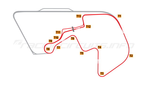 Map of Brainerd, Competition Road Course 2008 to date