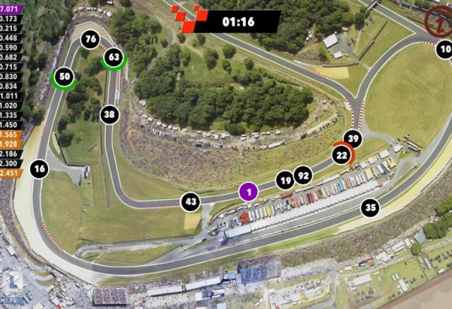 A screengrab of the new Brands Hatch LIVE! Xtra app