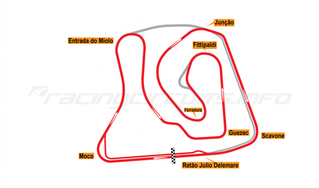 Map of Brasília, Grand Prix Circuit without chicane (not constructed) 2015 Proposals