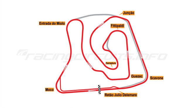 Map of Brasília, Grand Prix Circuit (not constructed) 2015 Proposals