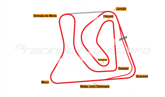 Map of Brasília, Grand Prix Circuit 1974-2014