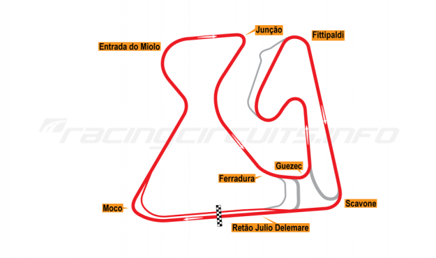 Map of Brasília, Grand Prix Circuit (not constructed) 2007 Proposals