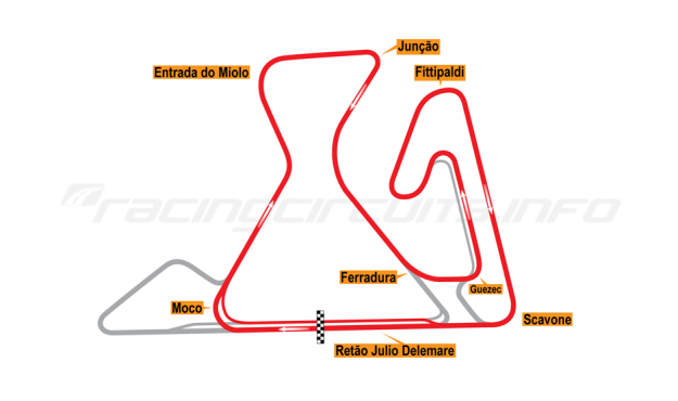 Map of Brasília, Short Grand Prix Circuit (not constructed) 2014 Proposals