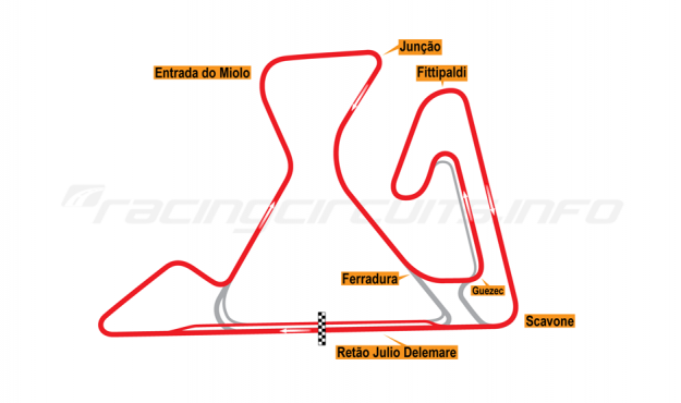 Map of Brasília, Grand Prix Circuit (not constructed) 2014 Proposals