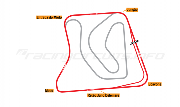 Map of Brasília, Outer Circuit 2015 to date