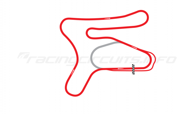 Map of New Hampshire Motor Speedway, Bryar Motorsports Park Road Course 1968-89