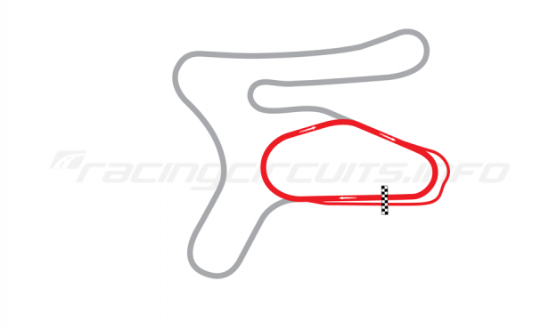 Map of New Hampshire Motor Speedway, Bryar Motorsports Park Oval Course 1968-89