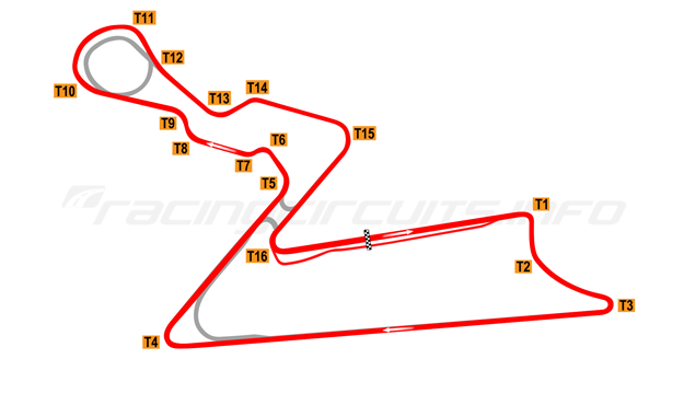 Map of Buddh International Circuit, 2011 to date