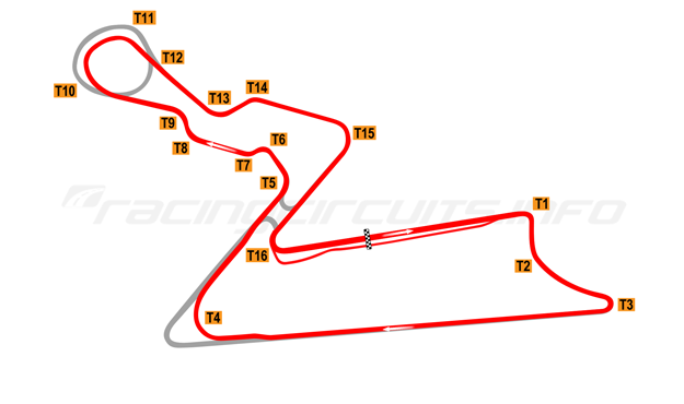 Map of Buddh International Circuit, Motorcycle Grand Prix Course 2011 to date