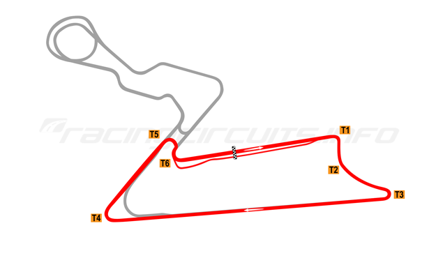 Map of Buddh International Circuit, Short Course 1 2011 to date