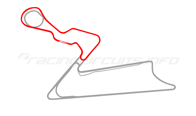 Map of Buddh International Circuit, Short Course 2 2011 to date