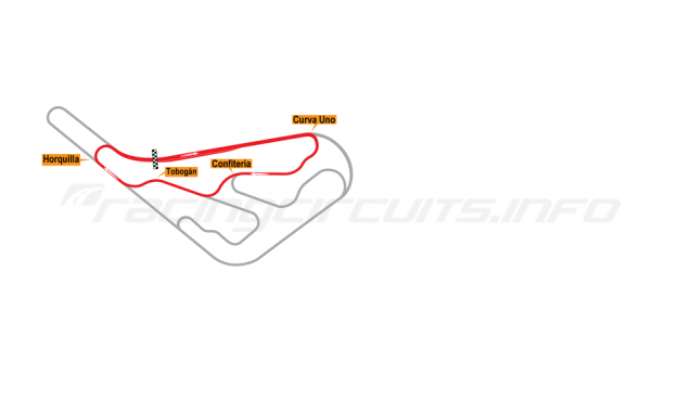 Map of Buenos Aires, Circuit No. 5 1952-67