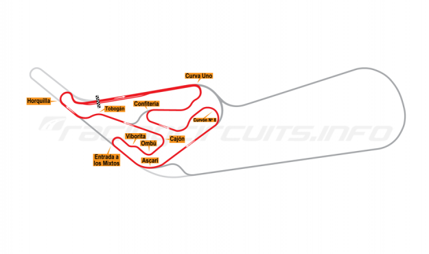 Map of Buenos Aires, Circuit No. 6 1972-78