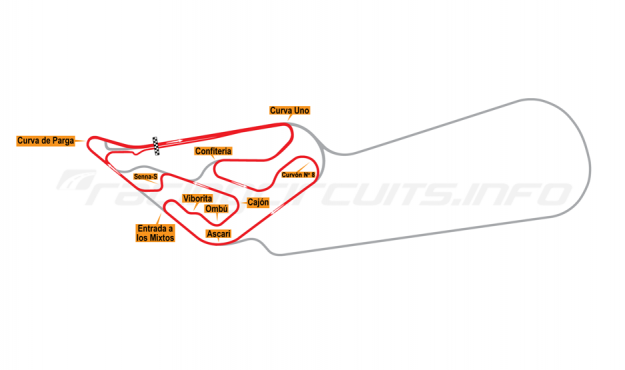 Map of Buenos Aires, Circuit No. 6-S 1995-98