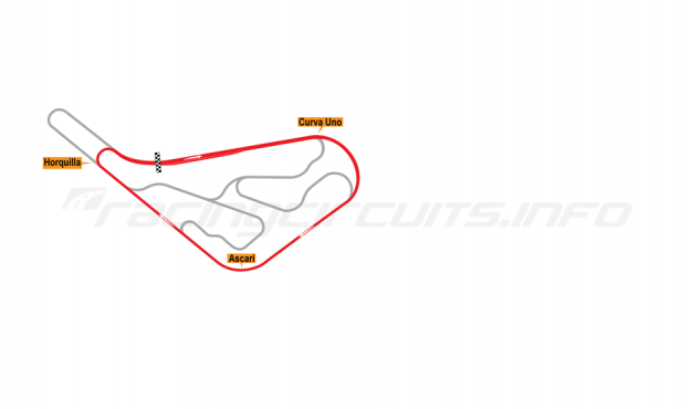 Map of Buenos Aires, Circuit No. 7 1952-67