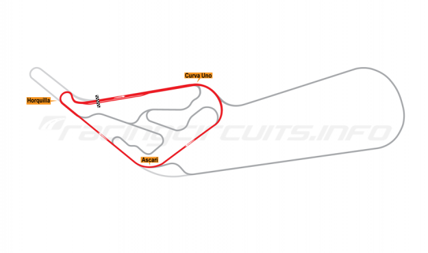 Map of Buenos Aires, Circuit No. 7 1972-78