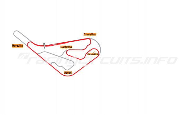 Map of Buenos Aires, Circuit No. 8 1952-67