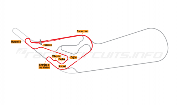 Map of Buenos Aires, Circuit No. 9 1979-94