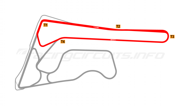 Map of Buriram United International Circuit, A Circuit 2017 to date