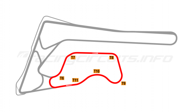 Map of Buriram United International Circuit, B Circuit 2017 to date