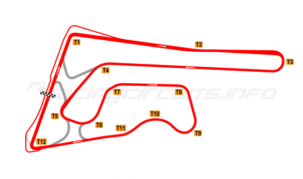 Map of Buriram United International Circuit, 2017 to date