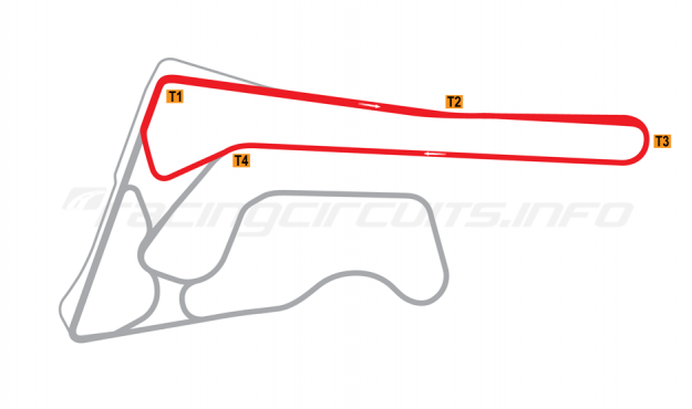 Map of Buriram United International Circuit, A Circuit 2014-16