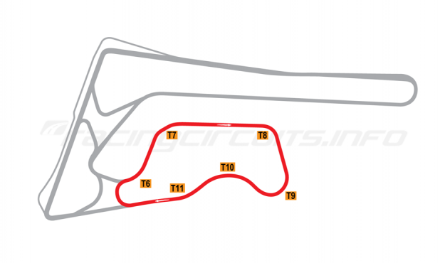 Map of Buriram United International Circuit, B Circuit 2014-16