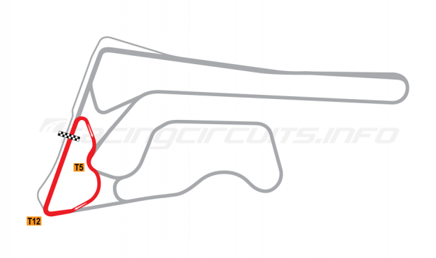 Map of Buriram United International Circuit, C Circuit 2014-16