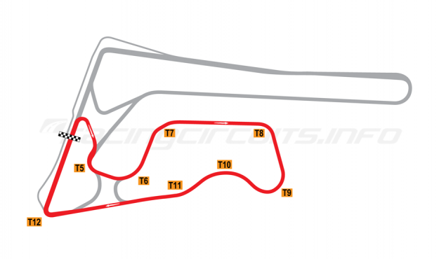 Map of Buriram United International Circuit, E Circuit 2014-16