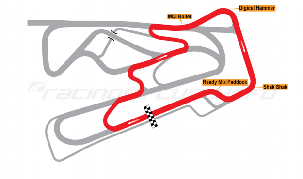 Map of Bushy Park, Kart circuit 2014 to date