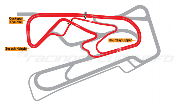 Map of Bushy Park, Race of Champions course 2014 to date