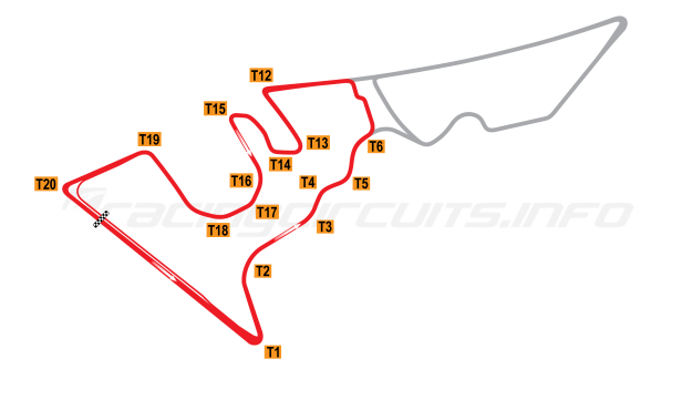 Map of Circuit of the Americas, National Circuit 2012 to date