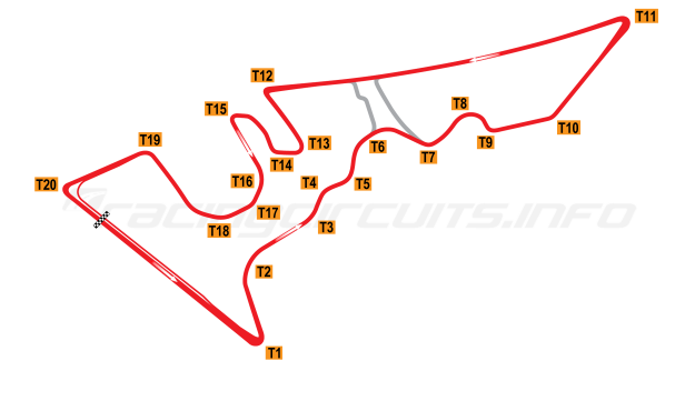 Map of Circuit of the Americas, 2012 to date